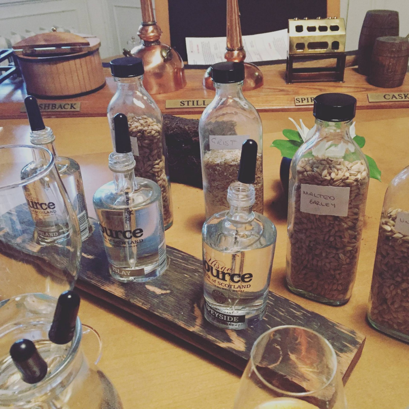 An educational evening at the Scotch Malt Whisky Society…