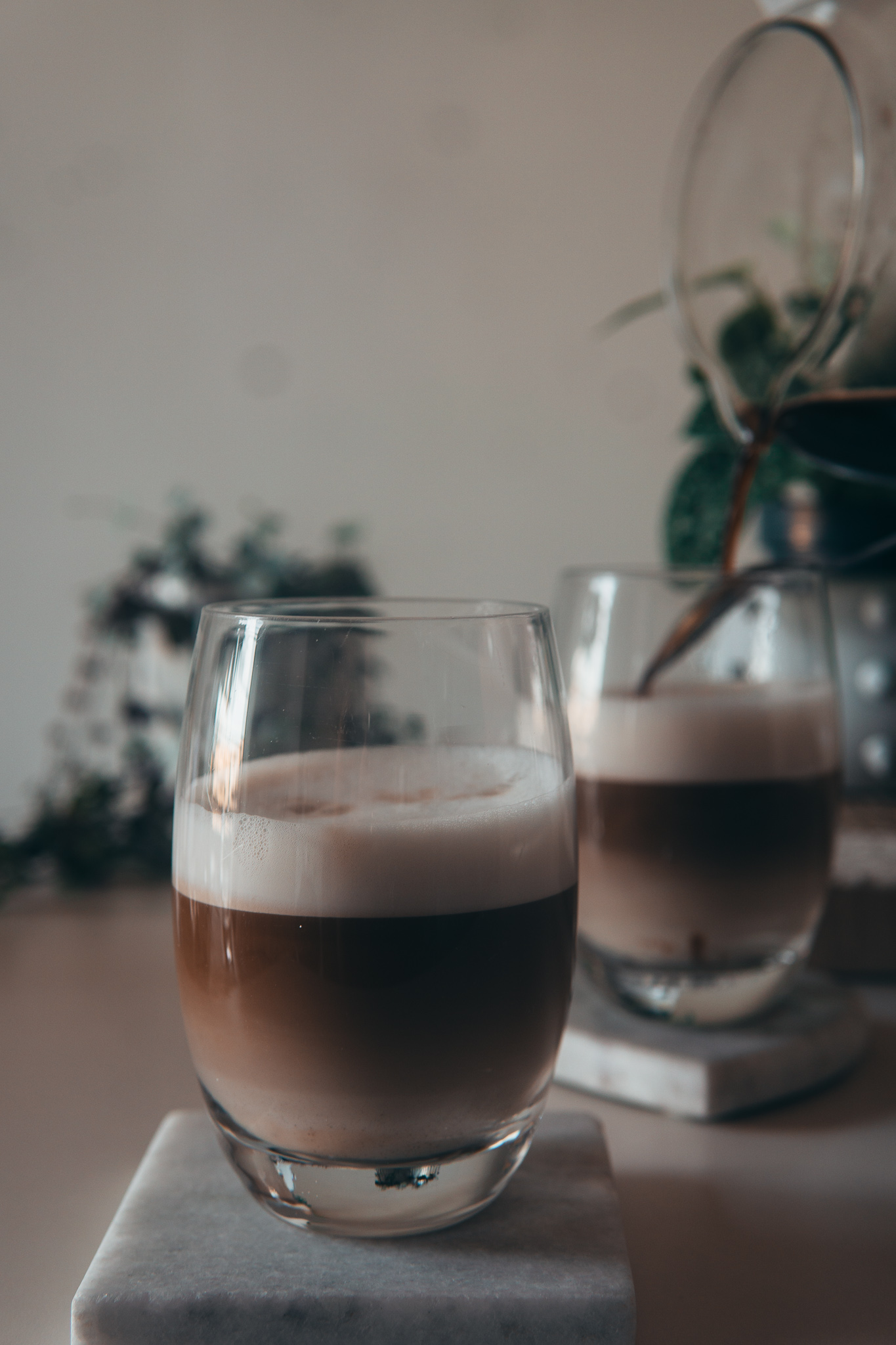 Layered Iced Oat Milk Coffee