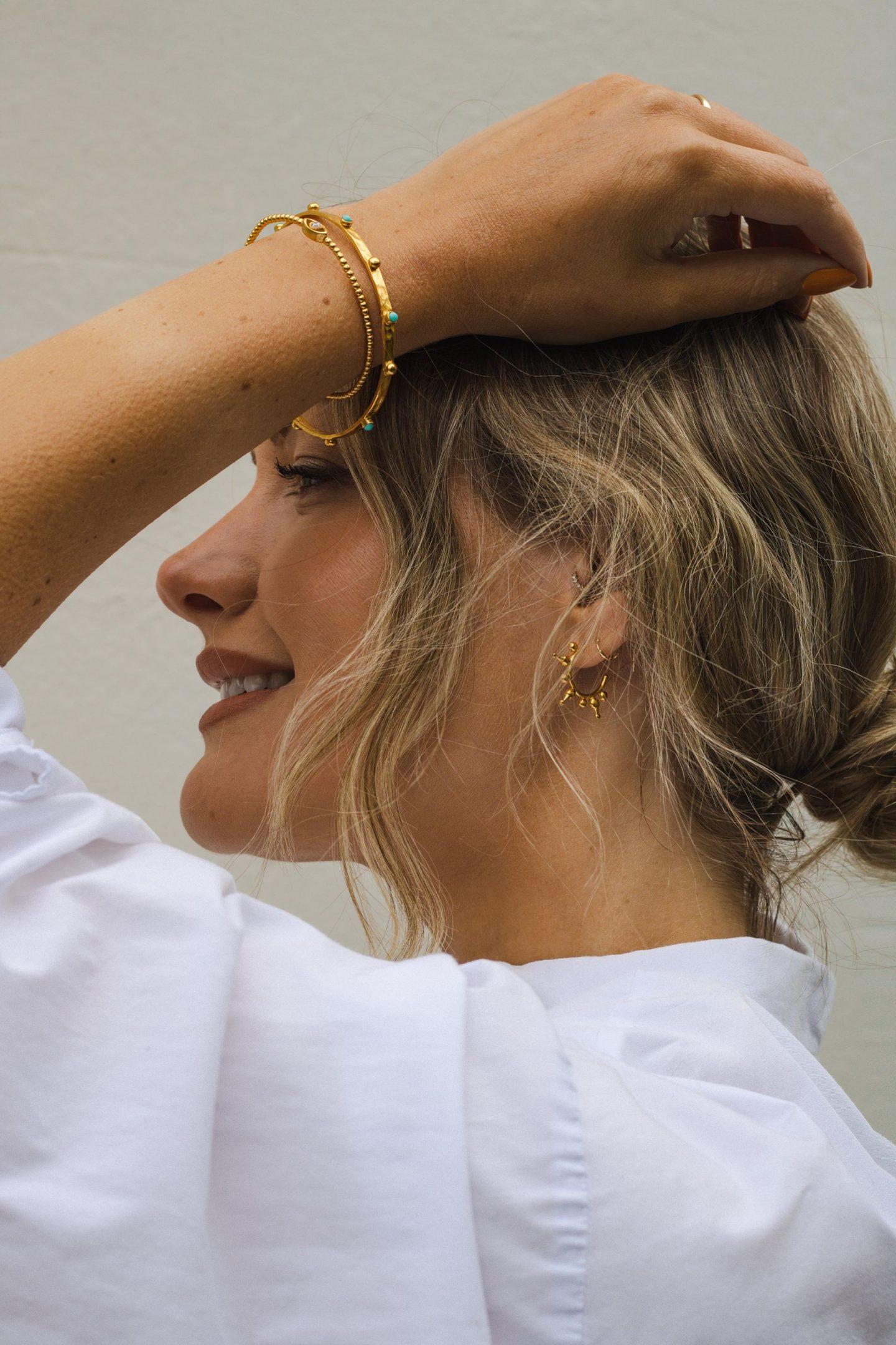 Aylin Gold Hoop Earrings